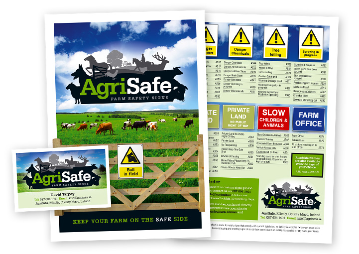 AgriSafe brochure catalogue and business card design