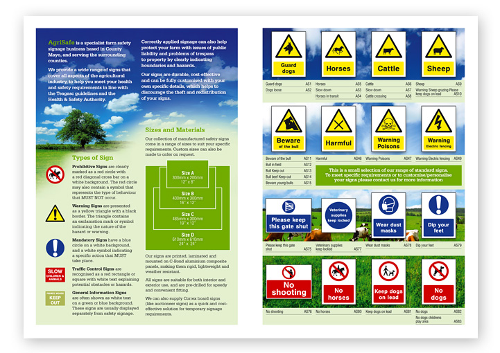 AgriSafe catalogue layout design
