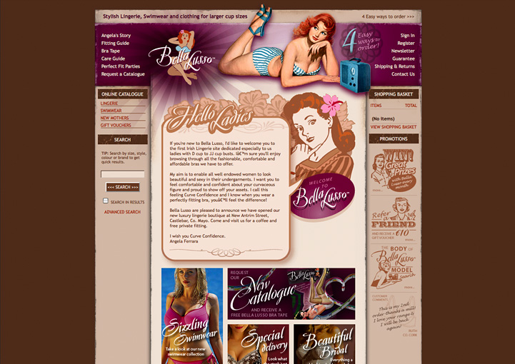 Bella Lusso website design