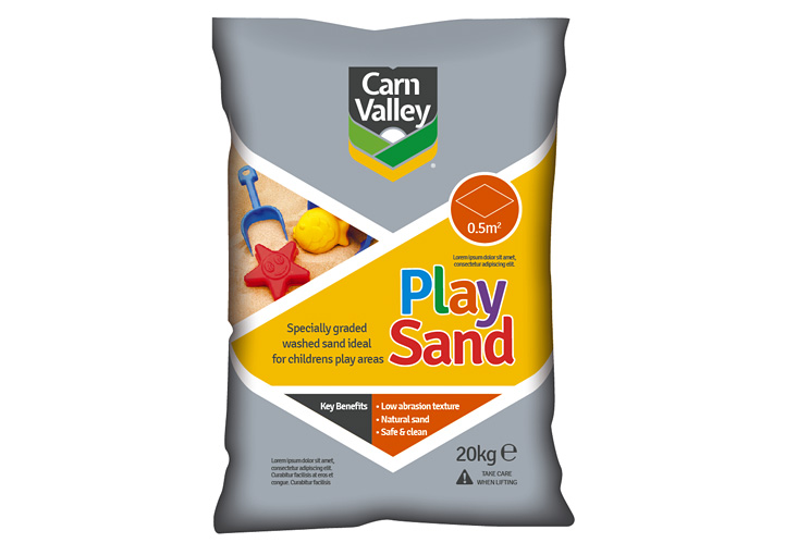 Carn Valley packaging design play sand