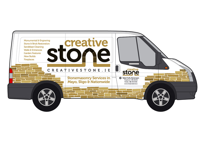 Creative Stone van wrap right