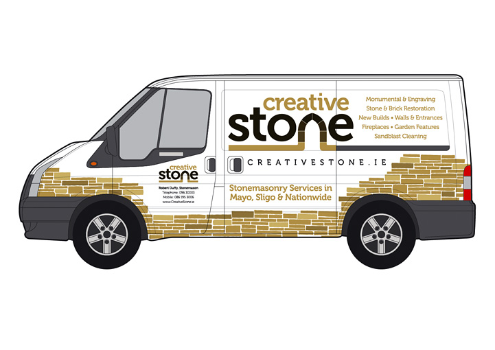 Creative Stone vehicle graphics left