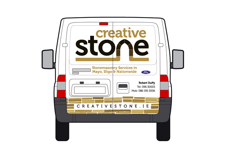 Creative Stone van design back