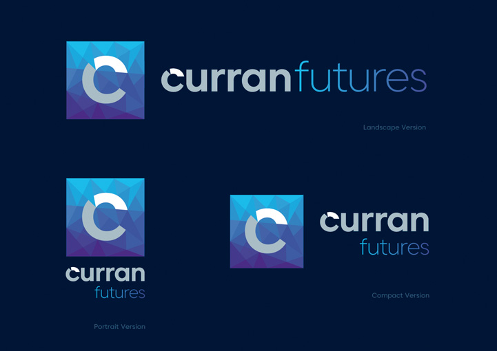 Curran Futures dark brand design