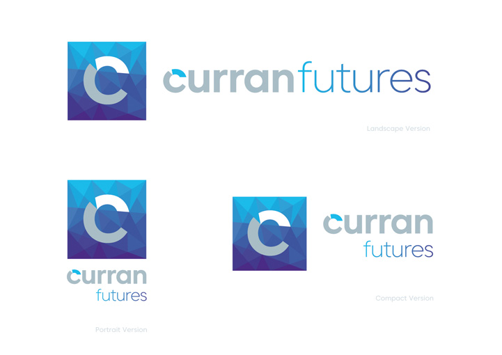 Curran Futures light brand design