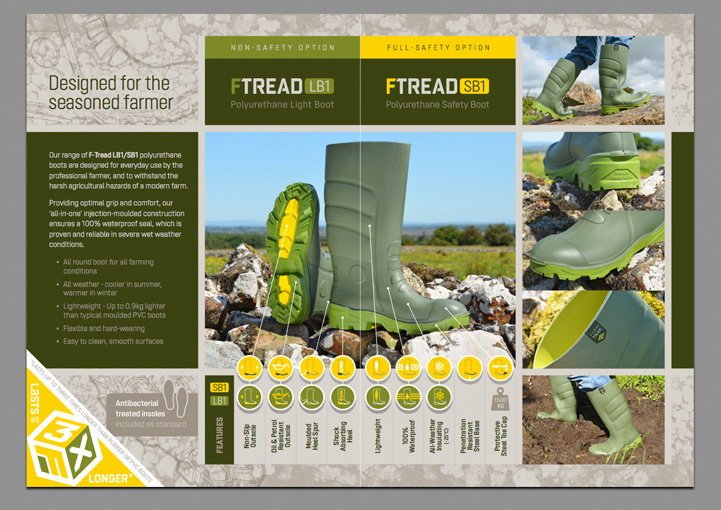 FarmTrak Boots product photography