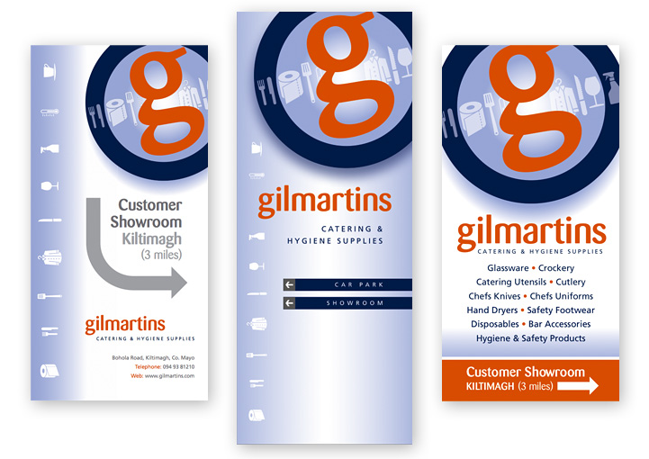 Gilmartins branding sign designs