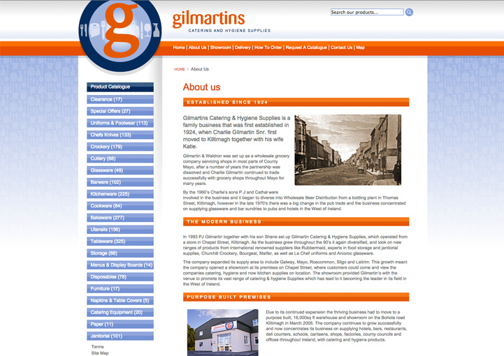 Gilmartins web design 2