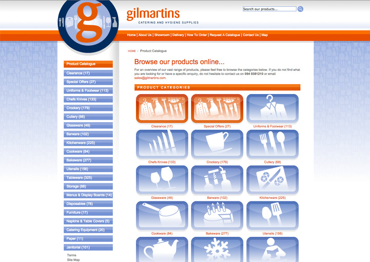 Gilmartins web catalog design 4
