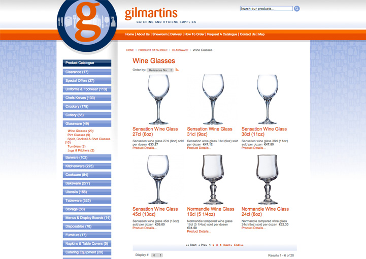 Gilmartins website design 6