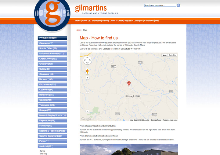 Gilmartins web page design 8