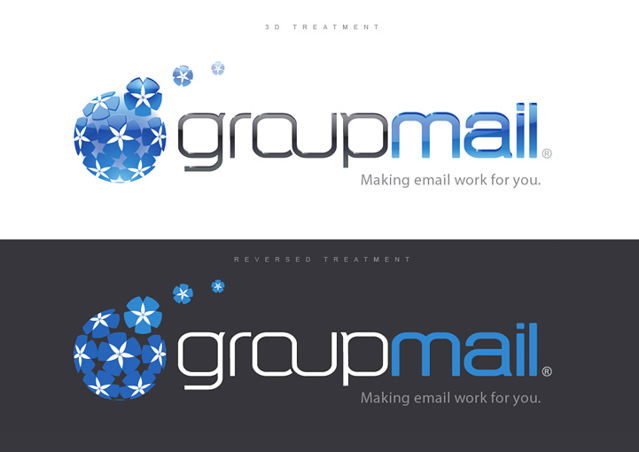 GroupMail logo design