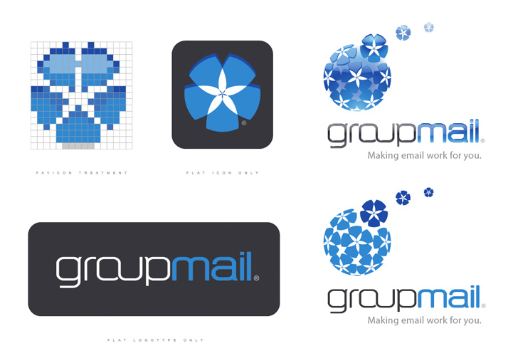 GroupMail brand design variations