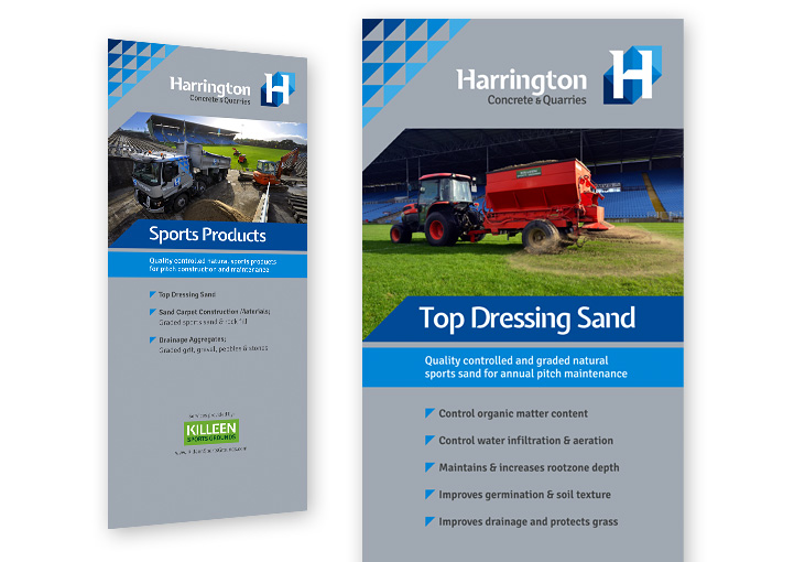 Harrington Concrete pull up banner stand designs