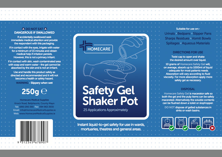 Homecare Medial Supplies packaging design