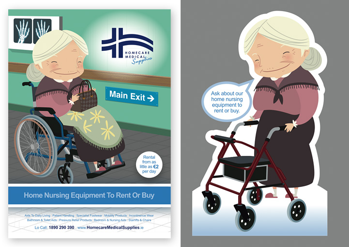 Homecare Medial Supplies retail point of sale design