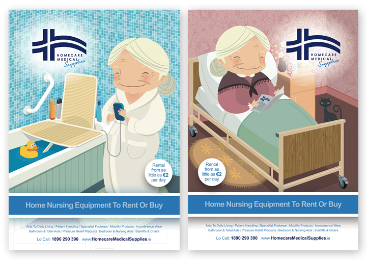 Homecare Medial Supplies poster designs