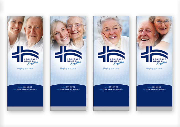 Homecare Medial Supplies pull up banner stands design