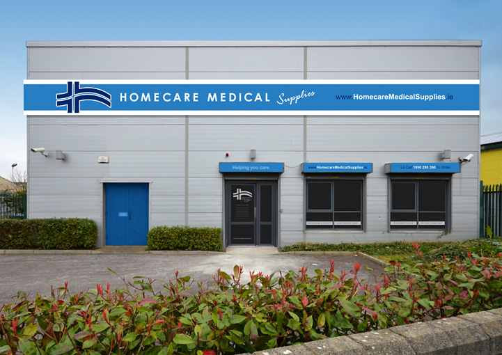 Homecare Medial Supplies business signage design