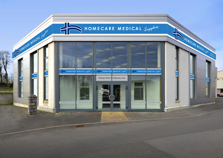 Homecare Medial Supplies concept visual design