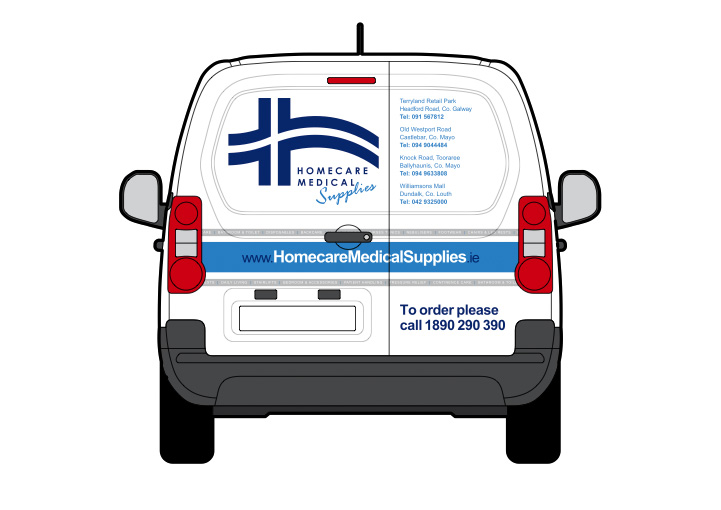 Homecare Medial Supplies vehicle graphics design 4