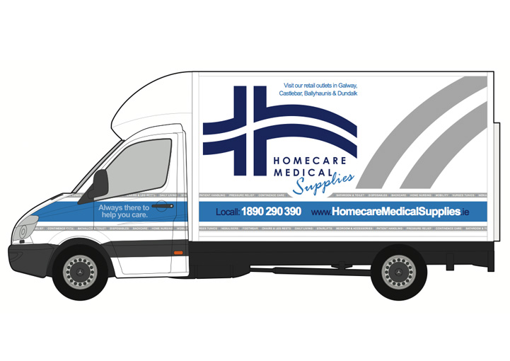 Homecare Medial Supplies vehicle graphics design 10