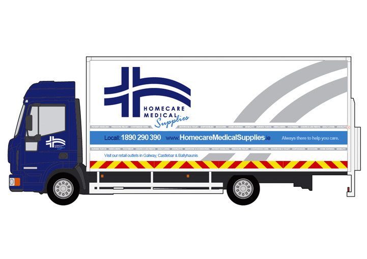 Homecare Medial Supplies vehicle graphics design 14