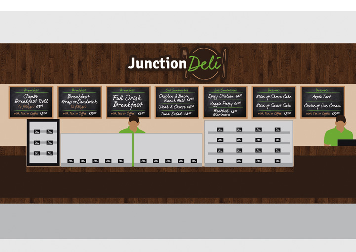 Junction Deli counter design