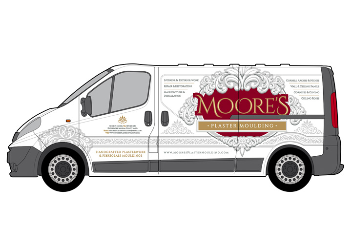 Moore's Plaster Moulding vehicle graphics design 2