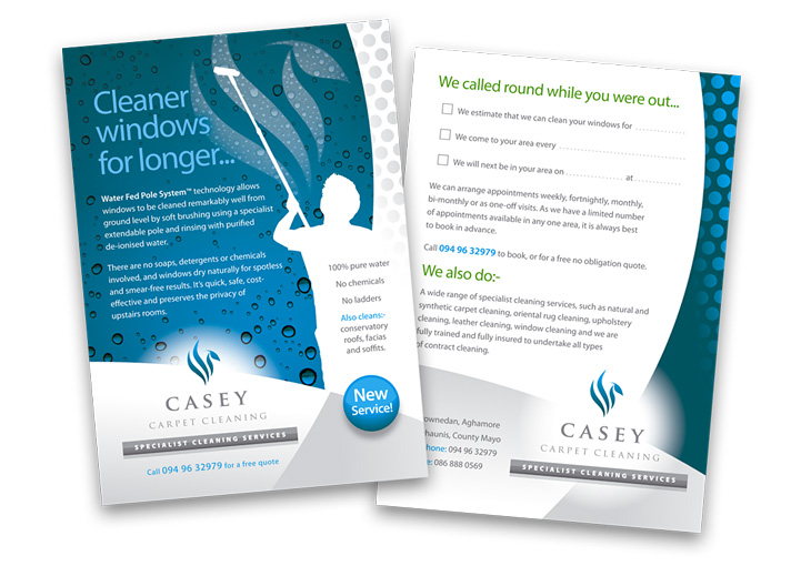 Casey Carpet Cleaning postcard design