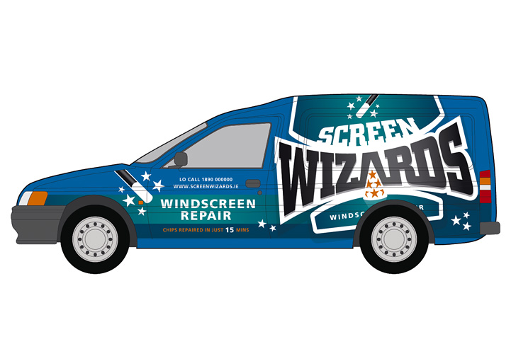 Screen Wizards van design