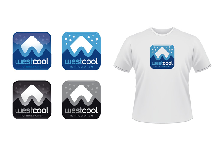 Westcool Refrigeration logo design variations