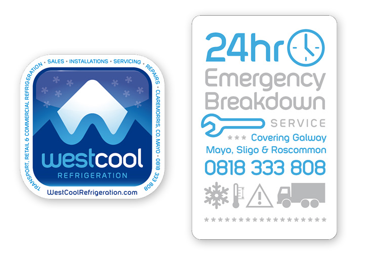 Westcool Refrigeration sticker design