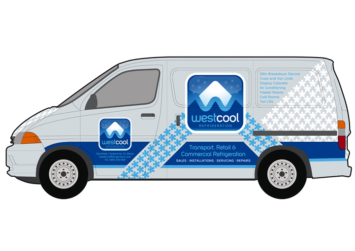 Westcool Refrigeration vehicle graphics design