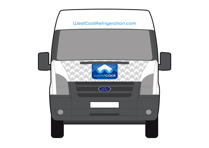 Westcool Refrigeration van wrap design